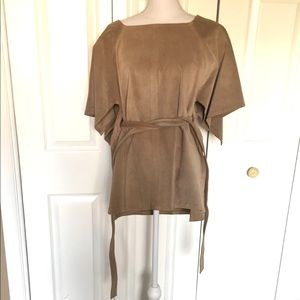 Boho 100% Leather Poncho